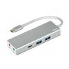 Usb-концентратор HAMA USB 3.1 Aluminium (00135758) серебристый, купить за 1580руб.