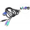 Kvm-переключатель кабель D-Link KVM-401 (для KVM-переключателей, 1.8 м), купить за 1010руб.