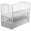Детская кроватка Papaloni Винни (маятник), белая, купить за 13 165руб.
