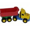 Игрушки для мальчиков Автомобиль-самосвал Полесье Фаворит, красный кузов, купить за 145руб.