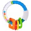 Игрушки для малышей Погремушка-прорезыватель Жирафики Звонкое колечко, синее, купить за 165руб.