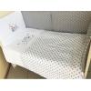 комплект Подушкино Долматинцы (бязь, вышивка, 6 предметов), белый и серый, купить за 3 600руб.