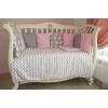 комплект Подушкино Зигзаги (6 предметов, бязь, борта подушками), розовый, купить за 2 385руб.
