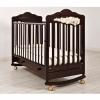 Детская кроватка Angela Bella Изабель (качалка), махагон, купить за 16 223руб.