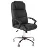 Кресло офисное TetChair Бергамо (крестовина хром), черное, купить за 8 490руб.