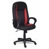 Кресло офисное TetChair Бриндиси, черное/красное, купить за 7 790руб.