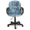 Кресло офисное TetChair BAGGI, карта на синем, купить за 3 790руб.