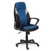 Компьютерное кресло TetChair INTER кож/зам/ткань, 36-6/С24/14, черный/синий/серый, купить за 7 690руб.