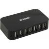 USB концентратор D-Link DUB-H7/B/D1A  7-port черный, купить за 1 545руб.