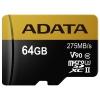Карта памяти A-DATA 64GB Premier ONE microSDXC Class 10 UHS-II U3 V90 275MB/s (SD адаптер), купить за 3 770руб.