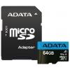 Карта памяти A-DATA 64GB microSDHC Class 10, купить за 900руб.