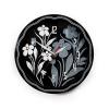 Часы интерьерные Вега Черно-белые ромашки пластик (настенные), купить за 995руб.