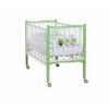 Детская кроватка Papaloni Fiore (колесо) Слива венгерка/белая, купить за 9 320руб.