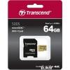 Карту памяти Transcend 64GB  microSDХC Class 10 UHS-1 U-3, V30, (SD адаптер), MLC, купить за 2580руб.