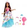 Куклу Barbie Принцесса, FXC81 брюнетка с длинными волосами, купить за 2900руб.