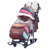 Санки-коляска Nika Ника детям 7-3 (НД 7-3), розовые скандинавия, купить за 6 350руб.