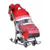 Санки-коляска Ника Детям 7-2 (НД 7-2), красные, купить за 4 000руб.