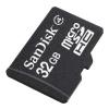 Sandisk microSDHC 32Gb Class 4 + adapter, купить за 630руб.