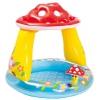 Бассейн надувной Intex Мухомор 57114 (с навесом) 102х89 см, купить за 650руб.