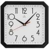 Часы интерьерные Вега Классика (белая в черном) настенные, купить за 520руб.