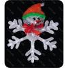Новогоднее украшение Фигура Торг-Хаус 2D-LED Снежинка со Снеговиком 46,5 см, купить за 2 950руб.