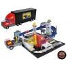 Игрушки для мальчиков Набор-трансформер Пламенный мотор Трейлер - Гоночный трек, купить за 1645руб.