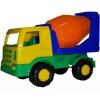 Автомобиль-бетоновоз Полесье Мираж, синий/оранжевый, купить за 249руб.