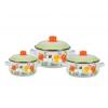 Набор посуды для готовки СтальЭмаль 13 Цветочный (7КТ131М) белоснежный, купить за 2 240руб.
