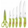 Набор ножей Vitesse VS-8130 (7 предметов), зелёный, купить за 1 365руб.