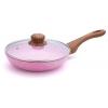 Сковорода Bekker 28 см, Emery, с крышкой, алюминий (BK-7948), купить за 1 555руб.