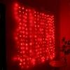 Новогоднее украшение Гирлянда Торг-Хаус LED занавес Светлячок, 1.6х1.6 м, красный, купить за 185руб.