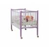 Детская кроватка Papaloni Fiore (колесо), фиалка/белая, купить за 9 320руб.