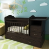 Детская кроватка Valle Alisa (трансформер), венге, купить за 11 715руб.