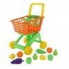 Игрушки для девочек Полесье Тележка для маркета + набор продуктов №7 (10 элементов), оранжевая сетка, купить за 850руб.