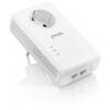 PowerLine-адаптер комплект Zyxel HomePlug AV2 PLA5456 (2 адаптера), белые, купить за 5 180руб.