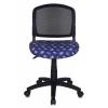 Компьютерное кресло Бюрократ CH-296NX/MOTO_BL, черное/темно-синее с мотоциклами, купить за 2 800руб.