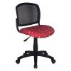 Компьютерное кресло Бюрократ (CH-296NX/MOTO_RD)красный с рисунком, купить за 2 800руб.