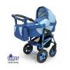 Коляска Teddy Serenade PCO-F (3 в 1) 01, синяя/голубая, купить за 19 950руб.