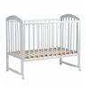 Детская кроватка Малика Sona-1 (колесо-качалка), белая, купить за 7 400руб.