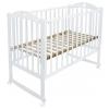 Детская кроватка Малика Laura-1 (колесо, качалка), белая, купить за 7 400руб.