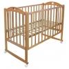 Детская кроватка Малика Laura-1 (колесо, качалка), натуральный бук, купить за 6 430руб.