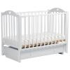 Детская кроватка Malika Laura-3 с ящиком, белая, купить за 8 615руб.