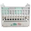 Детская кроватка By Twinz Мэри, поперечный маятник, бирюза/розовая, купить за 9 970руб.