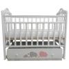 Детская кроватка By Twinz Мэри, поперечный маятник, серо/розовая, купить за 9 970руб.