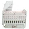 Детская кроватка By Twinz Зайки поперечный маятник, белая, купить за 9 970руб.