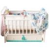 Детская кроватка By Twinz Маленький Кит, поперечный маятник, белая, купить за 9 970руб.
