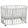 Детская кроватка Malika Mio 6 в 1 (круглая) белая, купить за 8 200руб.