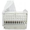 Детская кроватка By Twinz Версаль, поперечный маятник, белая, купить за 9 970руб.