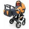 Коляска Teddy Serenade PCO-F 11 (3 в 1), графит/оранжевая, купить за 23 375руб.