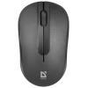 Мышка Defender Datum MM-285 черный беспроводная 3 кнопки,1600 dpi, купить за 350руб.